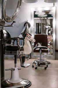 Фризьорски стол 3 - кафяв