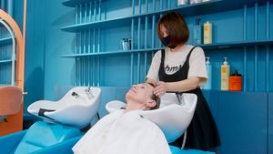 Оборудване за фризьорски салон 1 - син